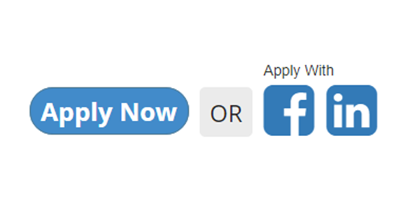 It's faster to apply with Facebook!