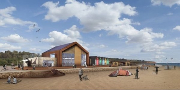 Artists impression of new Exmouth watersports centre